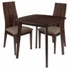 Barrington 3 Piece Espresso Wood Dining Table Set with Wide Slat Back Wood Dining Chairs - Padded Seats [ES-57-GG]