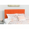 Bedford Tufted Upholstered Full Size Headboard in Orange Fabric [HG-HB1704-F-O-GG]
