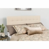 Bedford Tufted Upholstered King Size Headboard in Beige Fabric [HG-HB1704-K-B-GG]