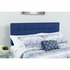 Bedford Tufted Upholstered King Size Headboard in Navy Fabric [HG-HB1704-K-N-GG]