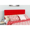 Bedford Tufted Upholstered King Size Headboard in Red Fabric [HG-HB1704-K-R-GG]