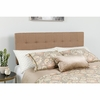 Bedford Tufted Upholstered Queen Size Headboard in Camel Fabric [HG-HB1704-Q-C-GG]