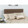 Bedford Tufted Upholstered Queen Size Headboard in Dark Brown Fabric [HG-HB1704-Q-DBR-GG]