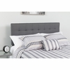 Bedford Tufted Upholstered Queen Size Headboard in Dark Gray Fabric [HG-HB1704-Q-DG-GG]