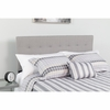 Bedford Tufted Upholstered Queen Size Headboard in Light Gray Fabric [HG-HB1704-Q-LG-GG]