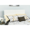 Bedford Tufted Upholstered Queen Size Headboard in White Fabric [HG-HB1704-Q-W-GG]