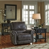 Benchcraft Breville Rocker Recliner in Charcoal Faux Leather [FBC-8009REC-CH-GG]