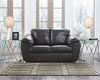 Benchcraft Fezzman Loveseat in Black Leather [FSD-6529LS-BLK-GG]