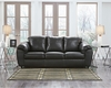 Benchcraft Fezzman Sofa in Black Leather [FSD-6529SO-BLK-GG]
