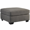 Benchcraft Maier Oversized Accent Ottoman in Charcoal Microfiber [FBC-2349OTT-CRC-GG]
