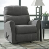 Benchcraft Maier Rocker Recliner in Charcoal Microfiber [FBC-2349REC-CRC-GG]