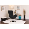 Egg Series Black Fabric Side Reception Chair [CH-162430-BK-FAB-GG]