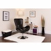 Egg Series Black Leather Side Reception Chair [CH-162430-BK-LEA-GG]