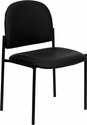 Comfort Black Vinyl Stackable Steel Side Reception Chair [BT-515-1-VINYL-GG]