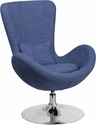 Egg Series Blue Fabric Side Reception Chair [CH-162430-BL-FAB-GG]