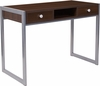 Bradley Espresso Wood Grain Finish Desk with Silver Metal Frame [NAN-NJ-HD10165-GG]