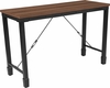 Brentwood Collection Rustic Walnut Finish Console Table with Industrial Style Steel Legs [NAN-JH-1790ST-GG]