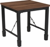 Brentwood Collection Rustic Walnut Finish Side Table with Industrial Style Steel Legs [NAN-JH-1790ET-GG]