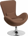 Egg Series Brown Fabric Side Reception Chair [CH-162430-BN-FAB-GG]