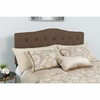 Cambridge Tufted Upholstered Full Size Headboard in Dark Brown Fabric [HG-HB1708-F-DBR-GG]