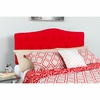 Cambridge Tufted Upholstered Full Size Headboard in Red Fabric [HG-HB1708-F-R-GG]