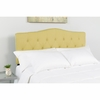 Cambridge Tufted Upholstered King Size Headboard in Green Fabric [HG-HB1708-K-G-GG]