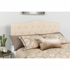 Cambridge Tufted Upholstered Queen Size Headboard in Beige Fabric [HG-HB1708-Q-B-GG]