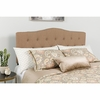 Cambridge Tufted Upholstered Queen Size Headboard in Camel Fabric [HG-HB1708-Q-C-GG]