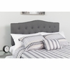 Cambridge Tufted Upholstered Queen Size Headboard in Dark Gray Fabric [HG-HB1708-Q-DG-GG]