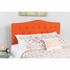 Cambridge Tufted Upholstered Twin Size Headboard in Orange Fabric [HG-HB1708-T-O-GG]