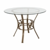 Carlisle 42'' Round Glass Dining Table with Matte Gold Metal Frame [XU-TBG-3-GG]