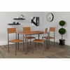 Castleton 5 Piece Cherry Finish Dinette Set with Chairs [XM-JM-A0202-C-GG]