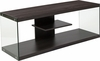 Cedar Lane Collection Driftwood Wood Grain Finish TV Stand with Shelves and Glass Frame [NAN-TS1018-GG]