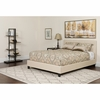 Chelsea Full Size Upholstered Platform Bed in Beige Fabric with Pocket Spring Mattress [HG-BM-2-GG]