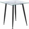 Chestnut Hill Collection Glass End Table with Sleek Matte Black Metal Legs [HG-160309B-GG]