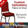 Custom Crown Back Banquet Chair with Gold Vein Frame - Choose from OVER 100 Custom Fabrics and Vinyls [FD-C01-GV-CUSTOM-GG]