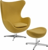 Citron Wool Fabric Egg Chair with Tilt-Lock Mechanism and Ottoman [ZB-20-CH-OT-GG]