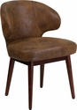 Comfort Back Series Bomber Jacket Microfiber Side Reception Chair with Walnut Legs [BT-5-BOM-GG]