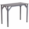 Contemporary Desk with Black Tempered Glass Top [NAN-YLCD1215-GG]