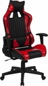 Cumberland Comfort Series High Back Black and Red Executive Reclining Racing Swivel Chair with Adjustable Lumbar Support [CH-CX1063H-RD-GG]