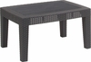 Dark Gray Faux Rattan Coffee Table [DAD-SF2-T-DKGY-GG]