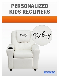Dreamweaver Personalized Kids Recliner Collection with Cup Holder