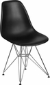 Elon Series Black Plastic Chair with Chrome Base [FH-130-CPP1-BK-GG]