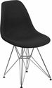 Elon Series Genoa Black Fabric Chair with Chrome Base [FH-130-CCV1-FC01-GG]
