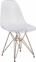 Elon Series Ghost Chair with Gold Metal Base [FH-130-CPC1-GG]