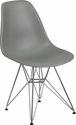 Elon Series Moss Gray Plastic Chair with Chrome Base [FH-130-CPP1-GY-GG]