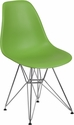 Elon Series Green Plastic Chair with Chrome Base [FH-130-CPP1-GN-GG]