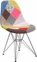 Elon Series Milan Patchwork Fabric Chair with Chrome Base [FH-130-CCV1-D-GG]