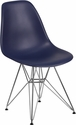 Elon Series Navy Plastic Chair with Chrome Base [FH-130-CPP1-NY-GG]