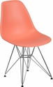 Elon Series Peach Plastic Chair with Chrome Base [FH-130-CPP1-PE-GG]